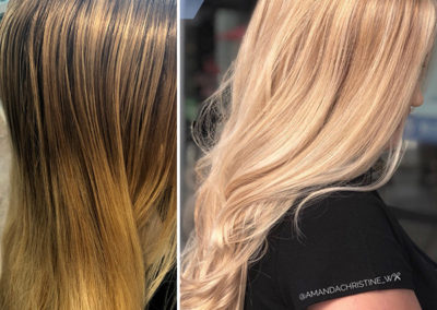 Highlights Toner and Olaplex by Amanda
