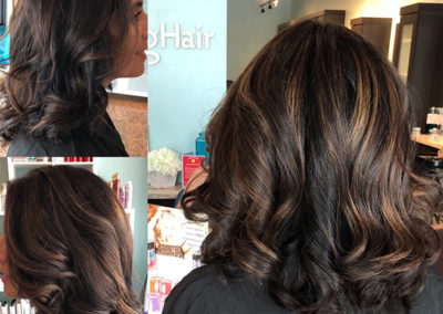 Carmel Highlights, long layered cut and beach waves by Rachel