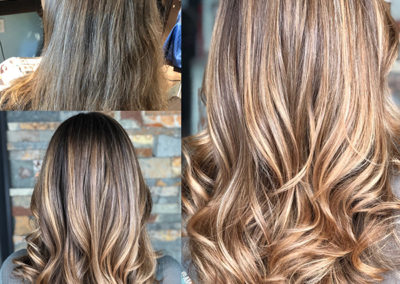 Hand Painted Natural Highlights by Amanda
